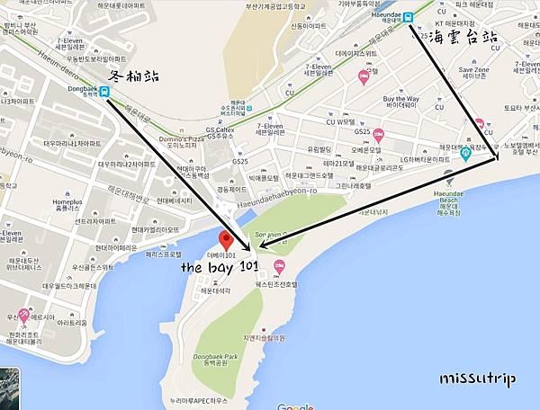海雲台thebay101地圖