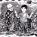 Ep01 - 15 裡頭用圖畫交代男主角的過去,畫得蠻可愛的!