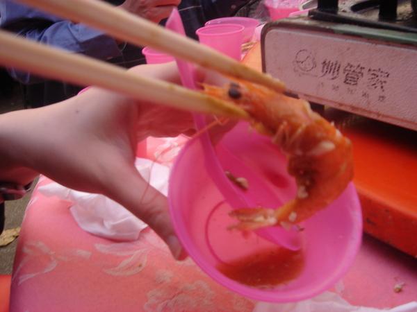 辣又美味的活跳蝦