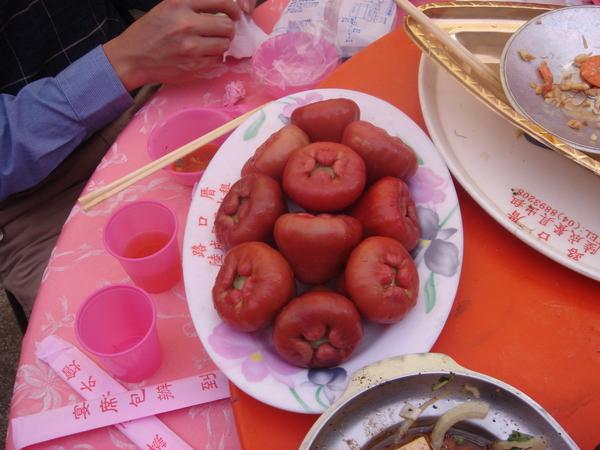 第一次看到這種水果盤