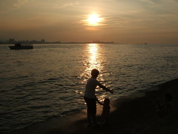 美麗的淡水夕陽