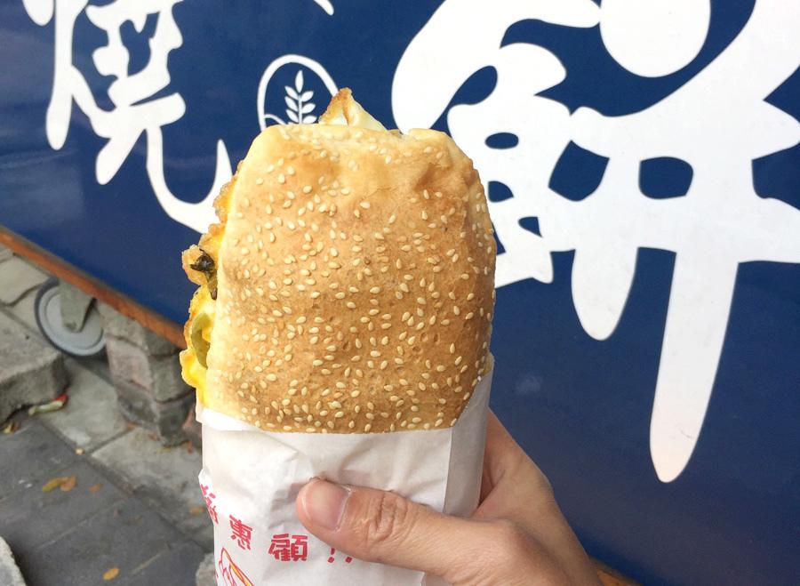 晨光食堂 燒餅 家傳 高雄美食11.JPG