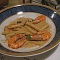 蝦醬尖管麵