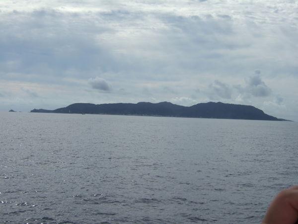 船上看到的綠島