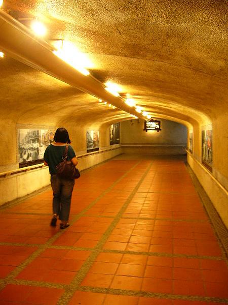 瑞芳站的地下道