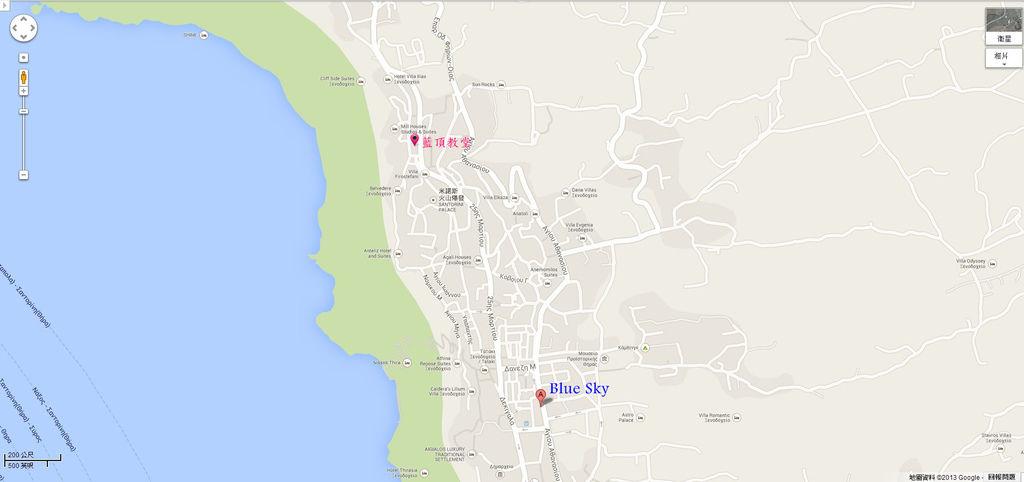 聖托里尼地圖