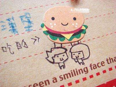 一起吃漢堡堡