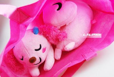整個粉紅通通...超級可愛