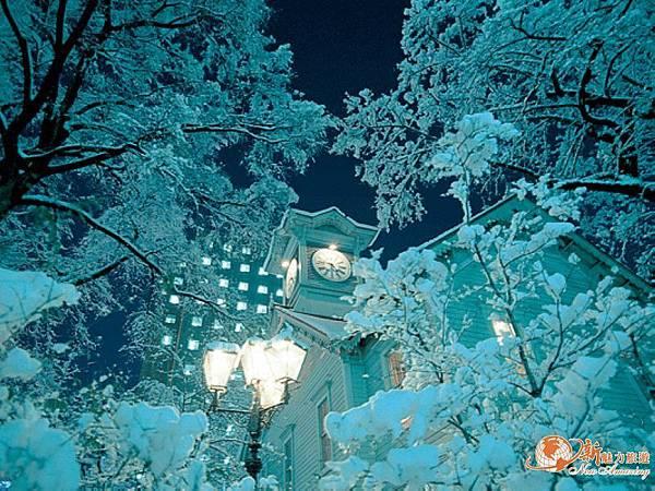 『北海道冬』雪中的時計台.jpg