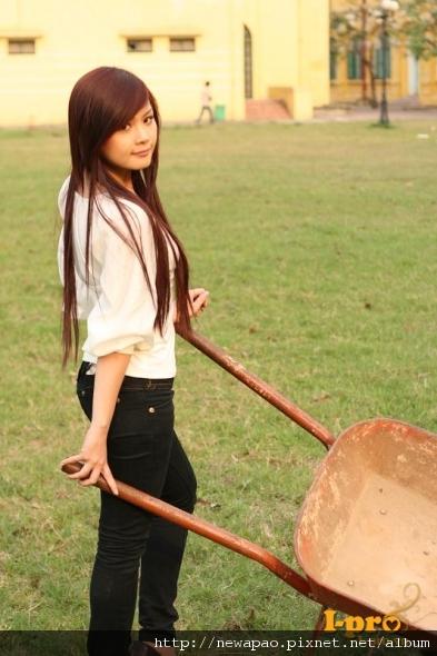 可愛的越南少女