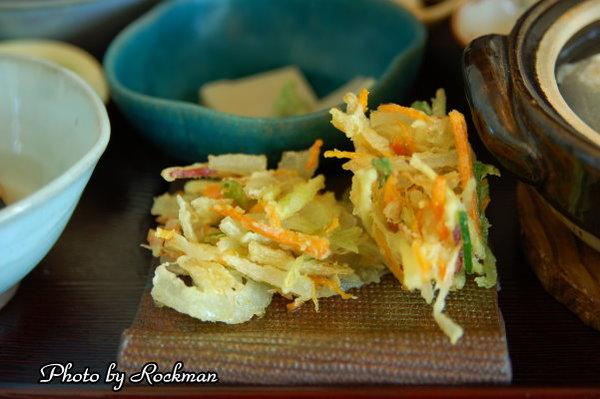 嵐山湯豆腐--炸蔬菜