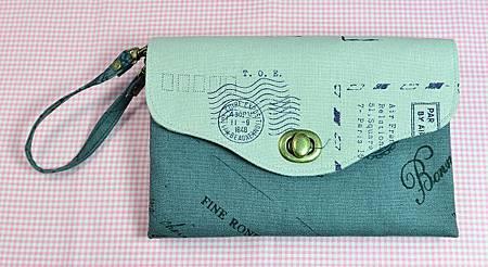 郵戳雙拉鍊收納包01