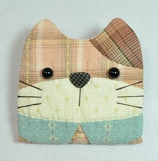 貓咪造型短夾包01