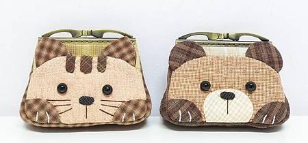 貓咪與小熊口金包01