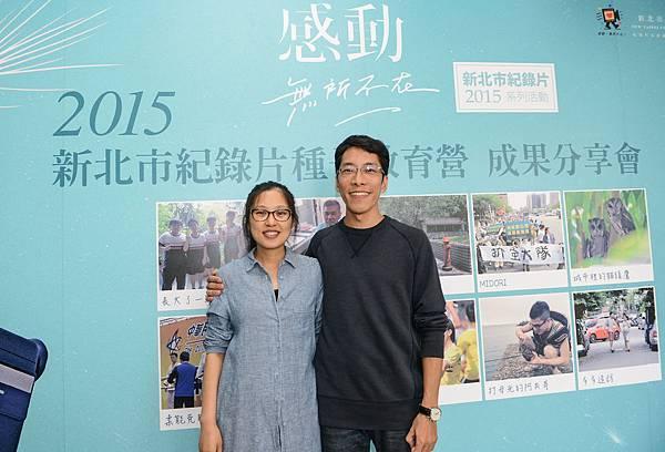 《多多造訪》導演鄧立群_鷺江國中(右)和其中國妻子