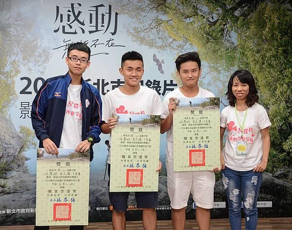 獲得觀眾票選獎的南山中學徐澤淵、李忠璿、干家豪《古早ㄟ味》.jpg