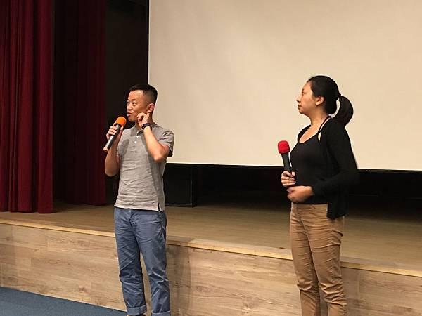 (左)《牧者》導演盧盈良(右)《嗰晚夜》導演鄭藹如