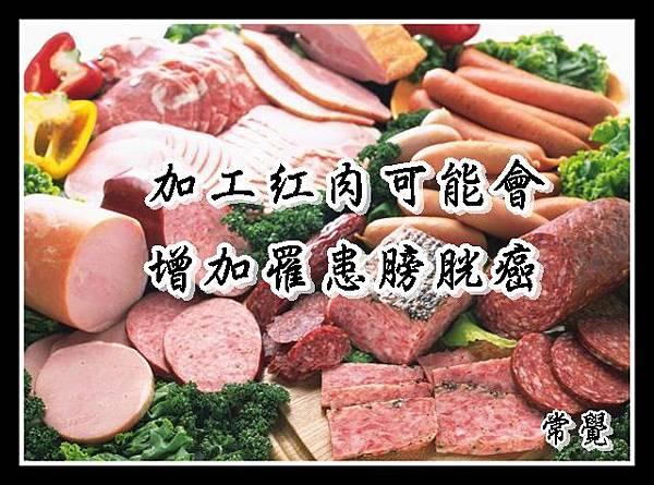 加工紅肉與膀胱癌