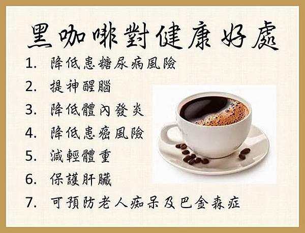 黑咖啡可保健!