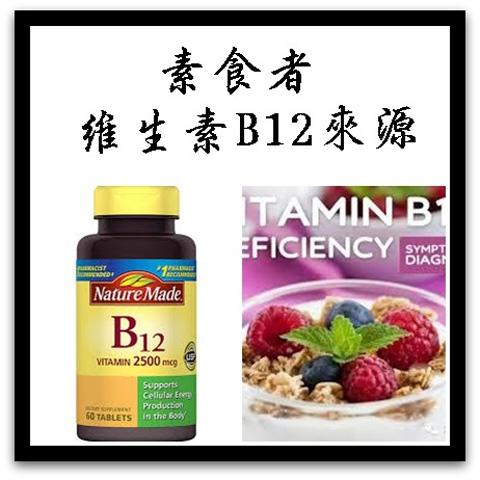 素食者維生素B12來源