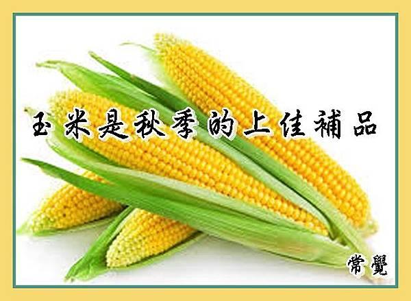 玉米是秋季的上佳補品
