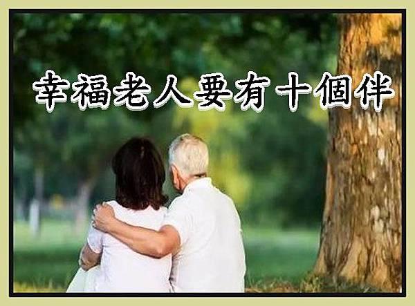 幸福老人要有十個伴r