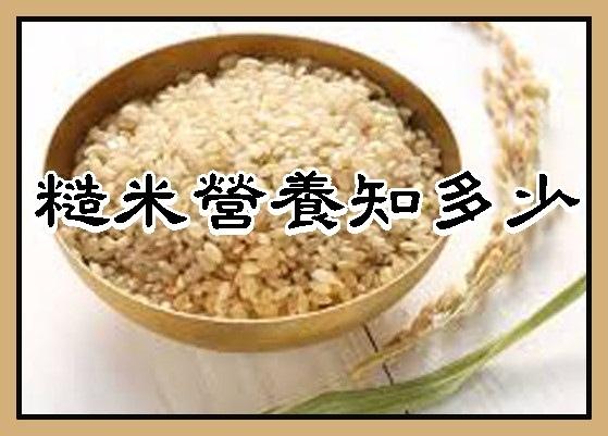 糙米營養知多少