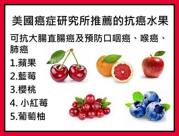 美國癌症研究所推薦的抗癌水果