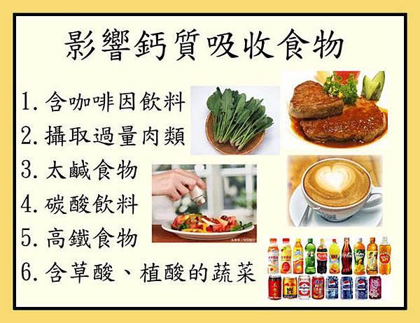 影響鈣質吸收食物