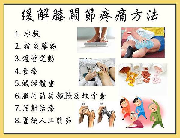 緩解膝關節疼痛方