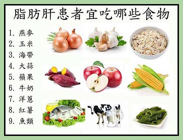 脂肪肝患者宜吃哪些食物