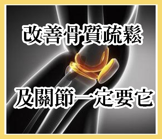 改善骨質疏鬆及關節一定要它