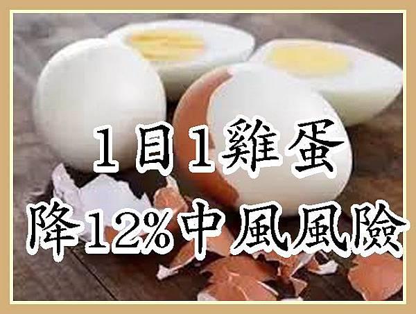 1日1雞蛋降12%中風風險