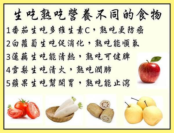 生吃熟吃營養不同
