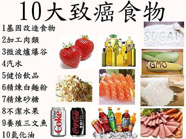 10大致癌食物1