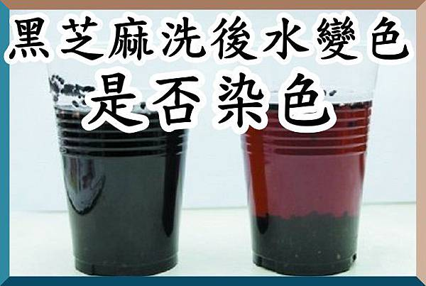 黑芝麻洗後水變色,是否染色?