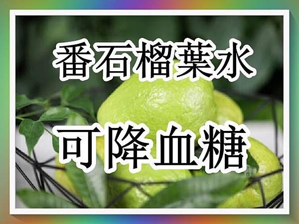 飲番石榴葉水有效降血糖.jpg
