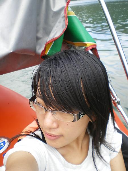 雨傘湖中自拍