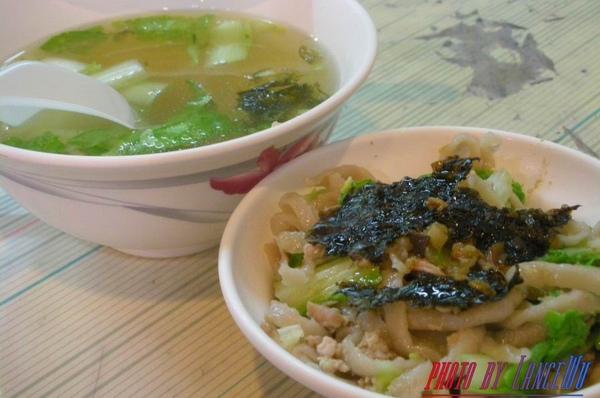 晚餐~手工魚麵+魚冊湯