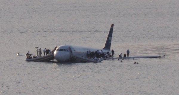 全美航空1549號班機事故真實照片