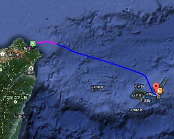 麗星郵輪GPS航行圖
