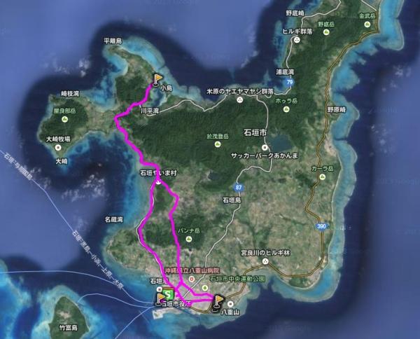 麗星郵輪-石垣島GPS旅遊圖