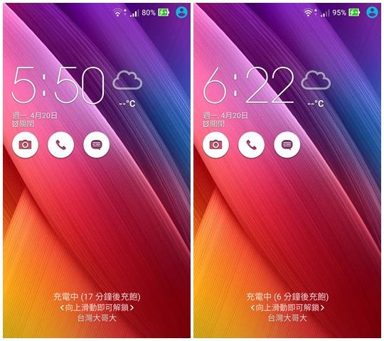 ZenFone 2 - 充電紀錄