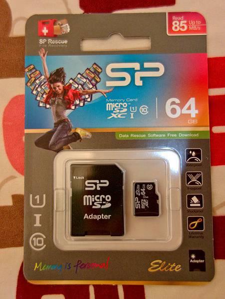 SP廣穎 microSDXC 64GB U1 Class10 記憶卡