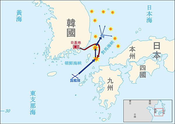 Tsushima_battle_map-ja.svg