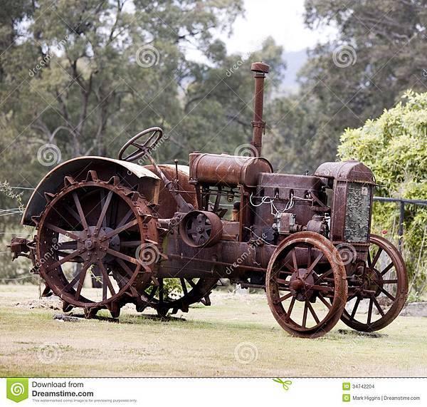 老蒸汽拖拉机-34742204