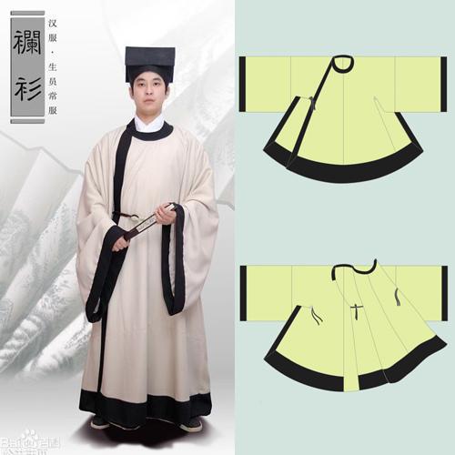 深衣/襕衫/史上最全'漢服'裁剪製...