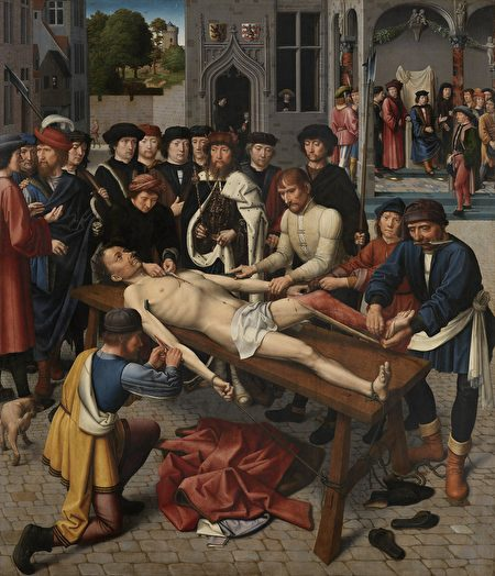 Gerard_David_-_The_Judgment_of_Cambyses_panel_2_-_The_shedding_of_the_corrupt_judge_Sisamnes-450x524