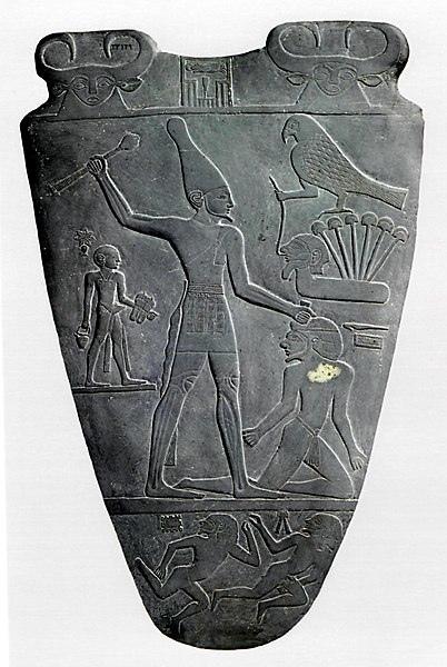 402px-Narmer_Palette_verso