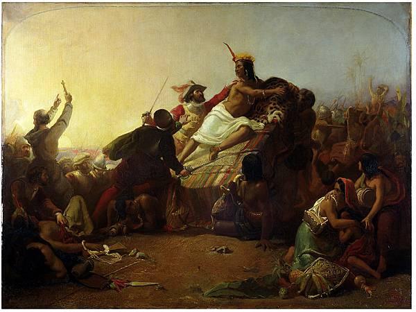 John_Everett_Millais_-_Pizarro_seizing_the_Inca_of_Peru